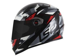 CAPACETE LS2 FF358 TANK CAMO MATT BLACK RED