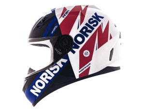 Capacete Norisk FF391 Forious White Blue Red