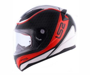 Capacete Ls2 FF353 Rapid Deeper White Black Red