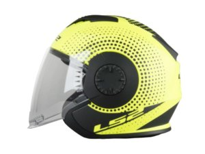Capacete Ls2 Of570 Verso Spin Matte Yellow Black