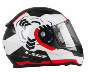 Capacete Ls2 FF353 Rapid Ghost White Black Red