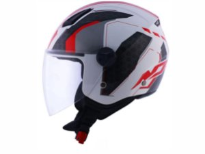 Capacete Norisk Orion Start White Red