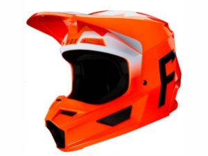 Capacete Fox Mx V1 Mvrs Werd Flo Orange