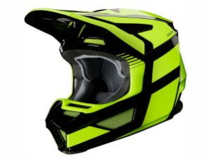 Capacete Fox Mx V2 Mvrs Hayl Flo Yellow