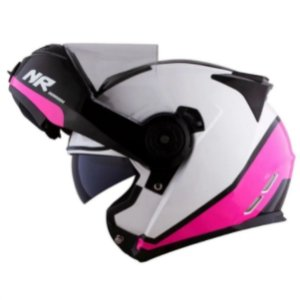 CAPACETE NORISK FF345 CHANCE WHITE PINK BLACK 54 XS