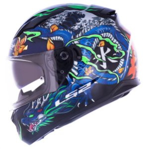 CAPACETE LS2 FF320 STREAM WARRIOR BLUE
