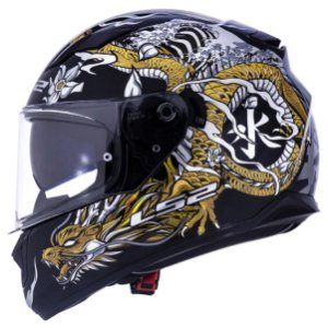 CAPACETE LS2 FF320 STREAM WARRIOR GOLD