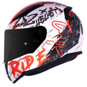 CAPACETE LS2 FF353 NAUGHTY WHITE RED