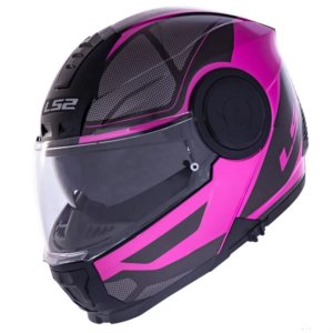 CAPACETE LS2 FF902 SCOPE MASK BLACK PINK