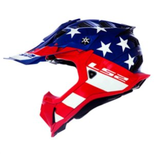 CAPACETE LS2 MX700 SUBVERTER EVO KROME GLORY RED / BLUE / WH