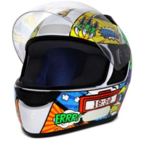CAPACETE EBF NEW SPARK CARTOON BIRD BRANCO