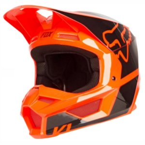 Capacete Fox Mx V1 Mips Revn Flo Orange