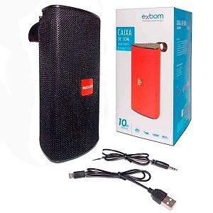 Caixa de Som Portátil Bluetooth Preta Exbom 03050 - CS-M33BT