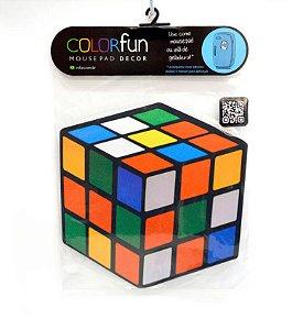 Mousepad Com Imã Geladeira Cubo Magico Colorfun Decorativo