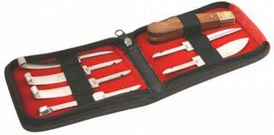 Jogo de rinetas com 6 lâminas trocáveis com estojo