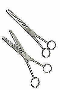 Tesoura para crinas - pente largo - 18 cm