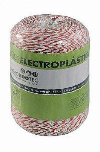 Fio eletroplástico 2mm 18 fios/ 6 fios aço 0,16mm branco e vermelho – 500m.