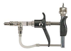 Vacinador serena com porta frasco posterior 5 ml -  regulagem 1 - 5 ml Bovino, suíno, caprino, equino e ovino