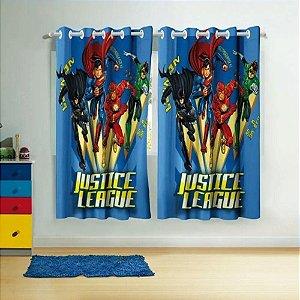 cortina para varão liga da justiça 3,00 X 1,80 lepper