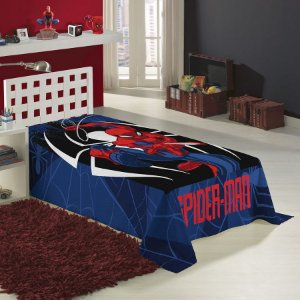 cobertor manta fleece spider man homem aranha lepper