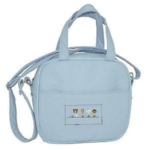bolsa frasqueira térmica saída maternidade sapeca kids azul