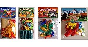 Kit Fazendinha e Zoológico com Animais Gulliver