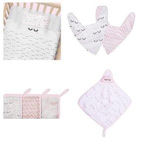Enxoval De Bebê Chevron Papi Baby Kit 9 Peças - Menina