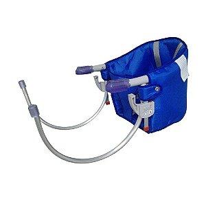 cadeira de alimentação sapeca kids com cinto segurança azul