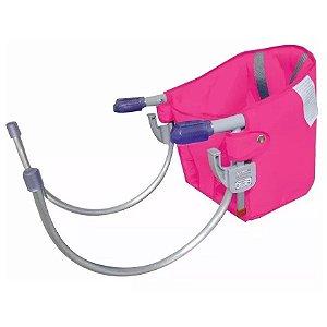 cadeira de alimentação sapeca kids com cinto segurança rosa