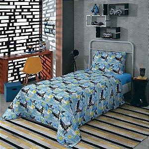 jogo de cama infantil batman 3 peças lepper