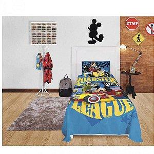 jogo de cama solteiro mickey 3 peças lepper
