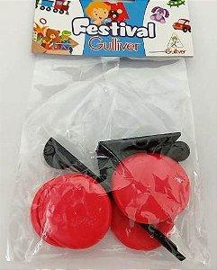 5 Pacotes De Futebol De Botão Bolão Gulliver - Vermelho