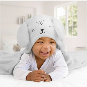 Mami Bichuus Cobertor Manta De Microfibra Com Capuz Bebê - Cinza