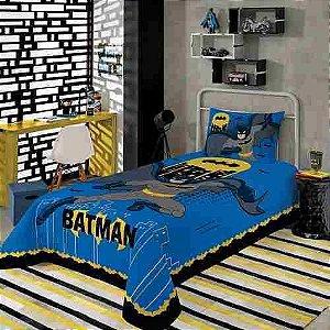 Batman Jogo De Cama Lençol Infantil 2 Peças Lepper