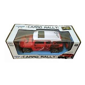 caminhonete carrinho controle remoto sem fio rally vermelho