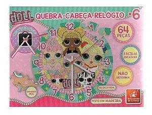 Quebra Cabeça Relogio Doll Brincadeira De Criança Loll 64 Peças Educativo