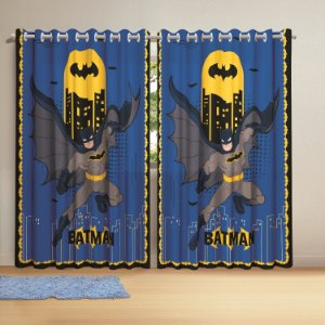 Cortina com ilhós Batman 3,00 x 2,10 lepper infantil personagem