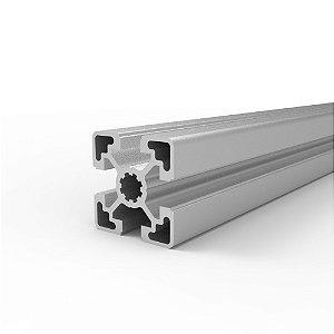 Perfil Estrutural em Alumínio 40x40 Super Leve - Rexroth Canal 10
