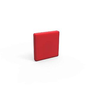 Capa de Fechamento Frontal Quadrada - Vermelha