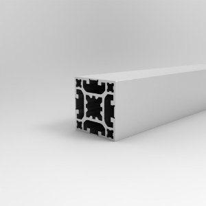 Perfil Estrutural em Alumínio 40x40 Básico Fechado - Canal 8