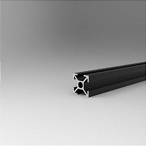 Perfil Estrutural em Alumínio 20x20 Preto - Canal 8