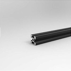 Perfil Estrutural em Alumínio 20x20 V-Slot Preto - Canal 6
