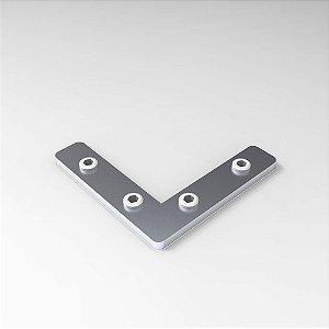 Conector Interno 90° com Parafusos p/ Perfil Base 20, 30, 45 e V-Slot