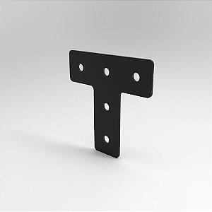 Placa de Conexão T p/ Perfil Base 20, 30, 40, 45 e V-Slot