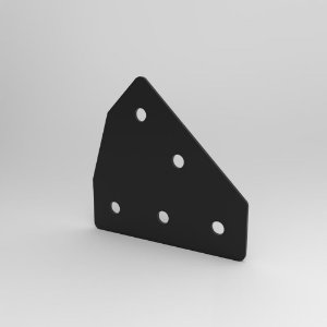 Placa de Conexão 45° p/ Perfil Base 20, 30, 40, 45 e V-Slot