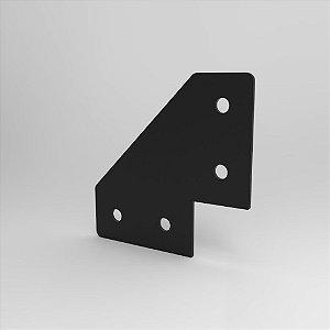 Placa de Conexão 90° - c/ Corte p/ Perfil 20, 30, 40 e V-Slot