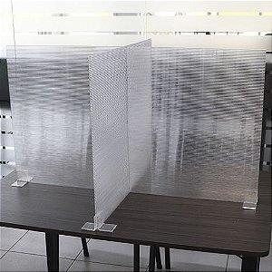 Divisória de Mesa e Barreira em Policarbonato Alveolar para Restaurantes e Refeitórios