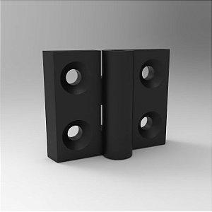 Dobradiça de Nylon 57x45mm - 35mm entre centros