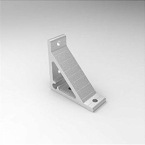 Cantoneira em Alumínio 100x100mm - Base Simples p/ Perfil Base 30, 40, 45 e 50