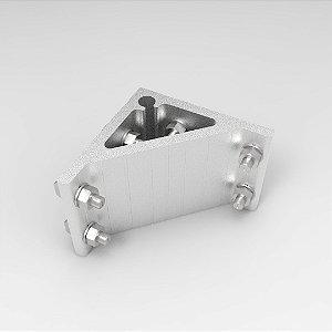 Cantoneira em Alumínio 100x100mm para Perfil Base simples c/ Fixadores